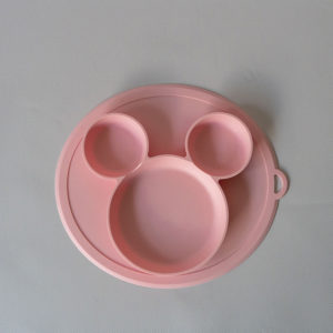 CB002_Cubs_Collection_Silicone Mouse Plate Pink